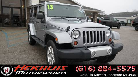2013 Jeep Wrangler Unlimited for sale at Hekhuis Motorsports in Rockford MI
