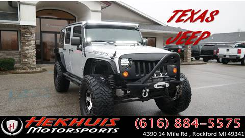 2012 Jeep Wrangler Unlimited for sale at Hekhuis Motorsports in Rockford MI