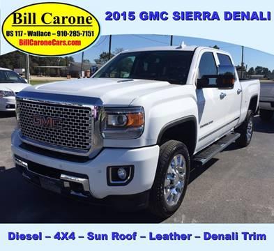 2015 GMC Sierra 2500HD for sale in Wallace, NC