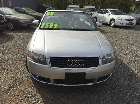 2003 Audi A4 for sale at Nerger's Auto Express in Bound Brook NJ