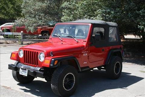 2002 Jeep Wrangler for sale at MARTZ MOTORS in Pleasant Hill CA