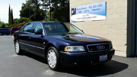 2001 Audi A8 for sale at MARTZ MOTORS in Pleasant Hill CA