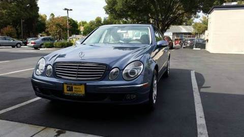 2006 Mercedes-Benz E-Class for sale at MARTZ MOTORS in Pleasant Hill CA