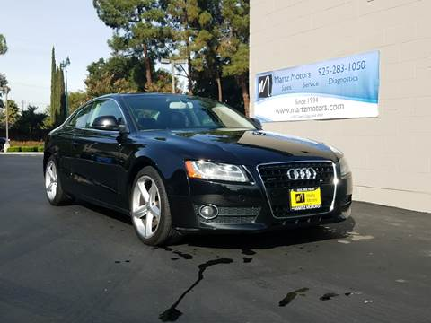 2009 Audi A5 for sale at MARTZ MOTORS in Pleasant Hill CA