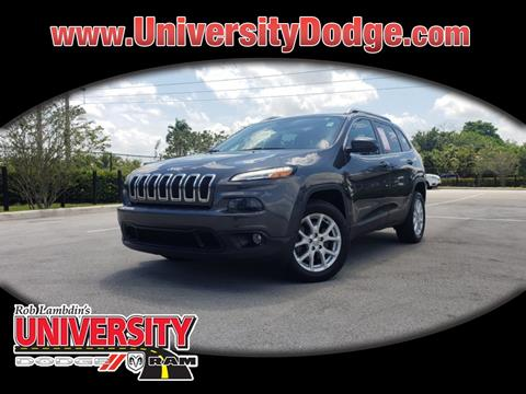 2015 Jeep Cherokee for sale in Davie, FL