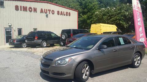 2011 Chevrolet Malibu for sale at Simon's Auto Sales in Clayton NC