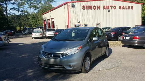 2014 Nissan Versa Note for sale at Simon's Auto Sales in Clayton NC