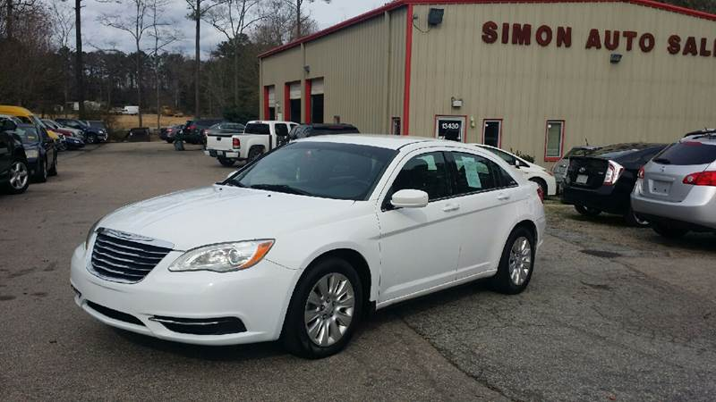 2012 Chrysler 200 for sale at Simon's Auto Sales in Clayton NC