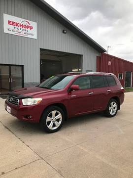 2008 Toyota Highlander For Sale >> Toyota Highlander For Sale In Webster City Ia Eekhoff Motors