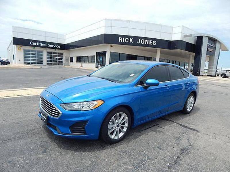 2019 Ford Fusion Hybrid for sale at RICK JONES BUICK, GMC, INC. in El Reno OK