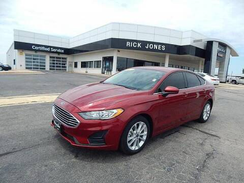 2019 Ford Fusion Hybrid for sale at RICK JONES BUICK, GMC, INC. in El Reno OK