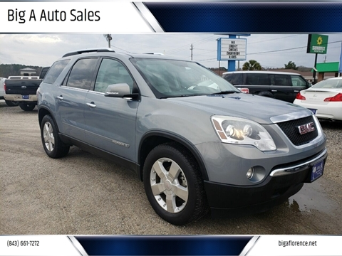 Gmc Acadia For Sale In Florence Sc Big A Auto Sales
