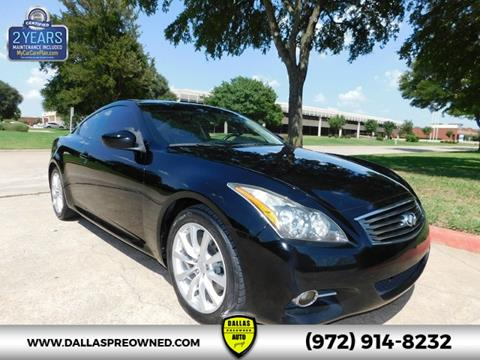2012 Infiniti G37 Coupe for sale in Carrollton, TX