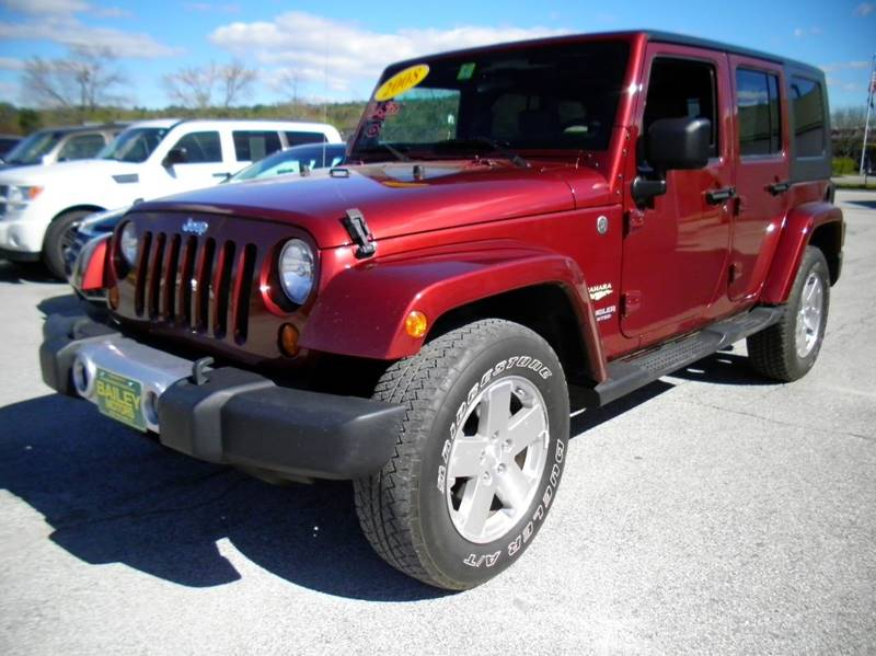 2008 Jeep Wrangler Unlimited for sale at BAILEY MOTORS INC in West Rutland VT