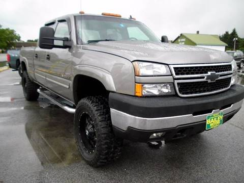 2007 Chevrolet Silverado 2500HD Classic for sale at BAILEY MOTORS INC in West Rutland VT
