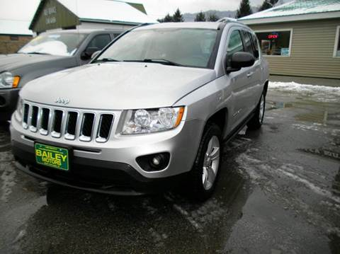 2012 Jeep Compass for sale at BAILEY MOTORS INC in West Rutland VT