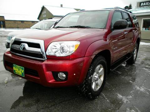 2007 Toyota 4Runner for sale at BAILEY MOTORS INC in West Rutland VT