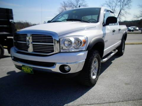 2008 Dodge Ram Pickup 1500 for sale at BAILEY MOTORS INC in West Rutland VT