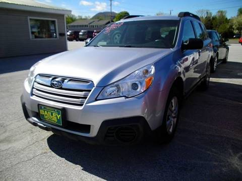 2013 Subaru Outback for sale at BAILEY MOTORS INC in West Rutland VT