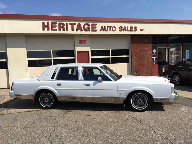 1988 Lincoln Town Car Signature 4dr Sedan In Waterbury Ct Heritage