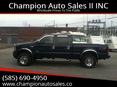 2005 Ford F-350 Super Duty for sale at Champion Auto Sales II INC in Rochester NY