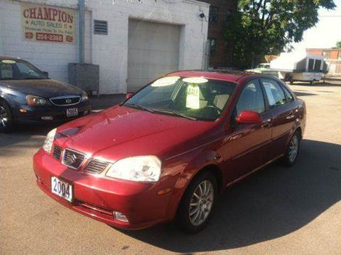 2004 Suzuki Forenza for sale at Champion Auto Sales II INC in Rochester NY
