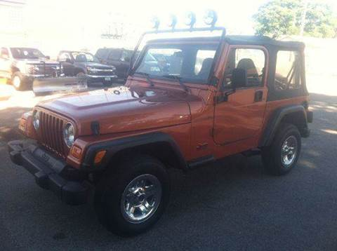 2001 Jeep Wrangler for sale at Champion Auto Sales II INC in Rochester NY