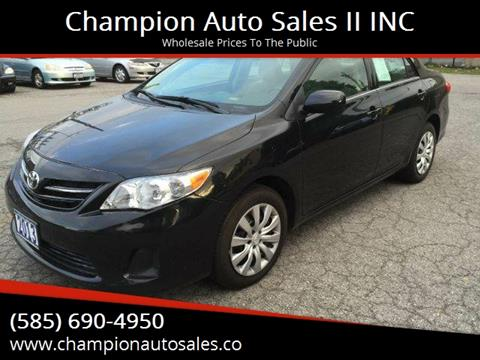2013 Toyota Corolla for sale at Champion Auto Sales II INC in Rochester NY