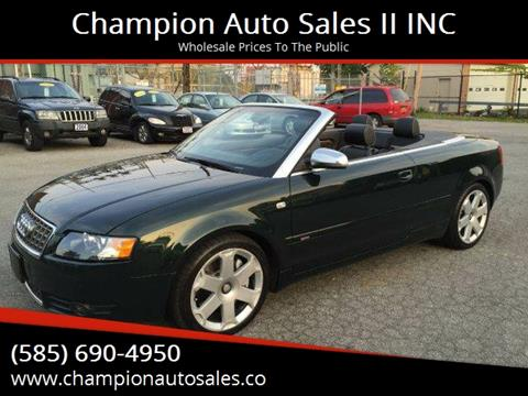 2005 Audi S4 for sale at Champion Auto Sales II INC in Rochester NY