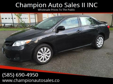 2012 Toyota Corolla for sale at Champion Auto Sales II INC in Rochester NY