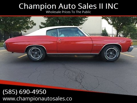 1972 Chevrolet Chevelle For Sale In Rochester Ny