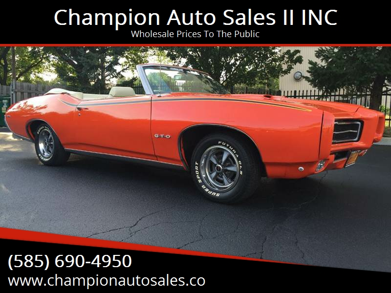 1969 Pontiac Gto Lemans Gto Judge Tribute Convertible In Rochester
