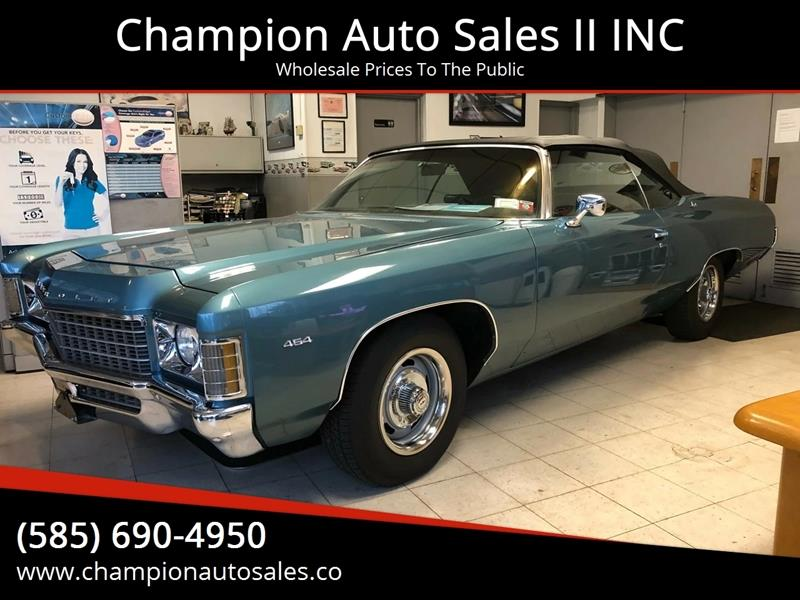 1971 Chevrolet Impala for sale at Champion Auto Sales II INC in Rochester NY