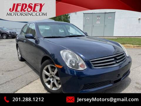 2005 Infiniti G35 for sale at JerseyMotorsInc.com in Teterboro NJ