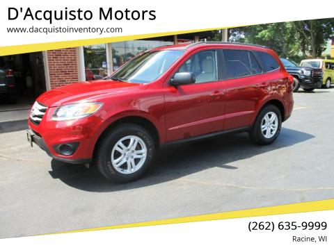 2012 Hyundai Santa Fe for sale at D'Acquisto Motors in Racine WI