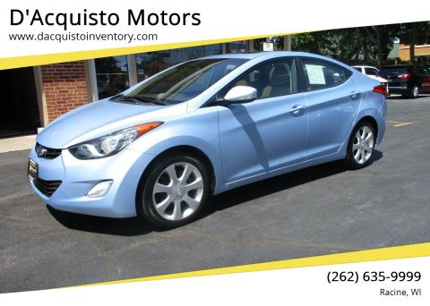 2012 Hyundai Elantra for sale at D'Acquisto Motors in Racine WI