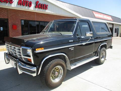 1985 Ford Bronco for sale at Eden's Auto Sales in Valley Center KS