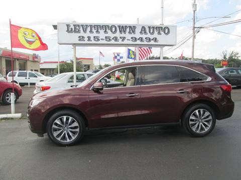 2016 Acura MDX for sale in Levittown, PA