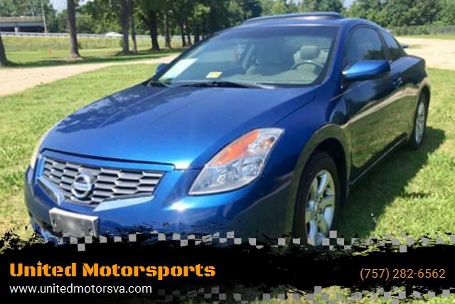 Nissan Virginia Beach >> 2008 Nissan Altima 2.5 S 2dr Coupe CVT In Virginia Beach