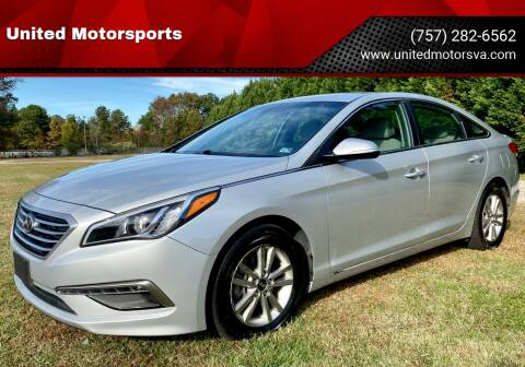 2015 Hyundai Sonata for sale at United Motorsports in Virginia Beach VA