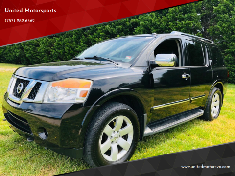 2011 Nissan Armada for sale at United Motorsports in Virginia Beach VA