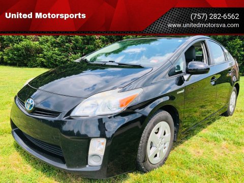 2010 Toyota Prius for sale at United Motorsports in Virginia Beach VA