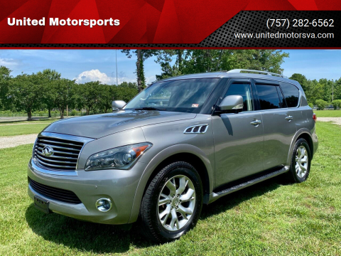 2012 Infiniti QX56 for sale at United Motorsports in Virginia Beach VA