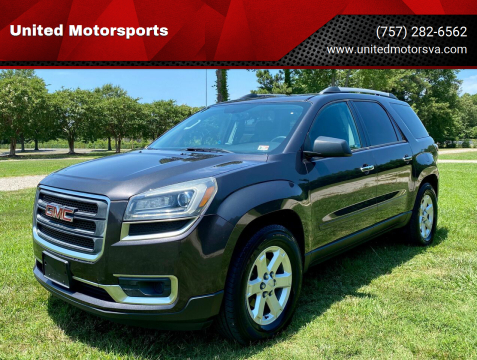 2013 GMC Acadia for sale at United Motorsports in Virginia Beach VA