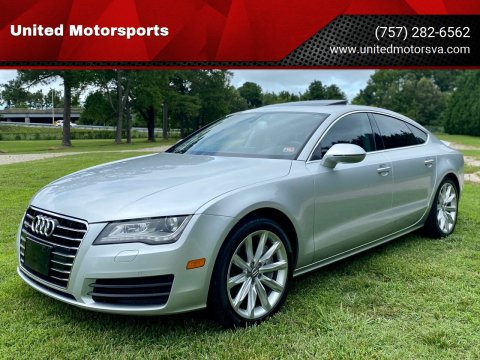 2012 Audi A7 for sale at United Motorsports in Virginia Beach VA