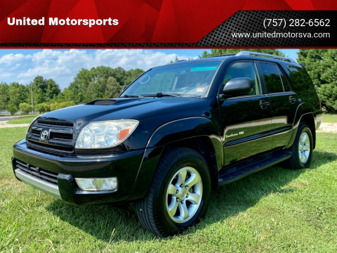 2004 Toyota 4Runner for sale at United Motorsports in Virginia Beach VA