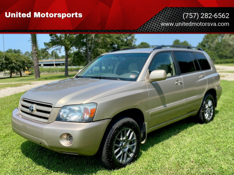 2004 Toyota Highlander for sale at United Motorsports in Virginia Beach VA