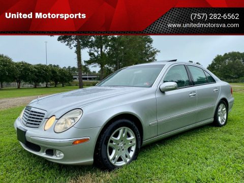 2003 Mercedes-Benz E-Class for sale at United Motorsports in Virginia Beach VA
