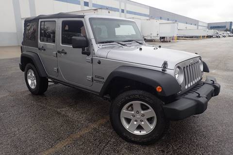 2014 Jeep Wrangler Unlimited for sale at OUTBACK AUTO SALES INC in Chicago IL