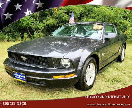 2009 Ford Mustang for sale at Chicagoland Internet Auto - 410 N Vine St New Lenox IL, 60451 in New Lenox IL